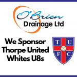 Thorpe United Whites U8s Sponsor